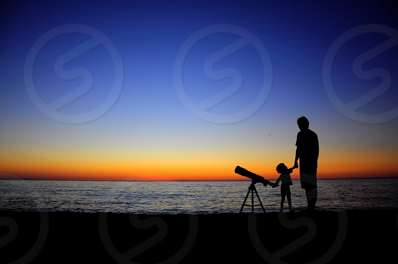 Looking at the stars photo