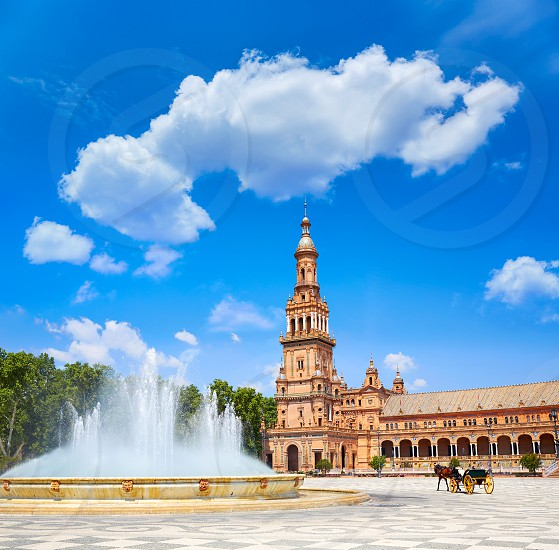 Seville Sevilla Plaza de Espana Andalusia Spain square photo