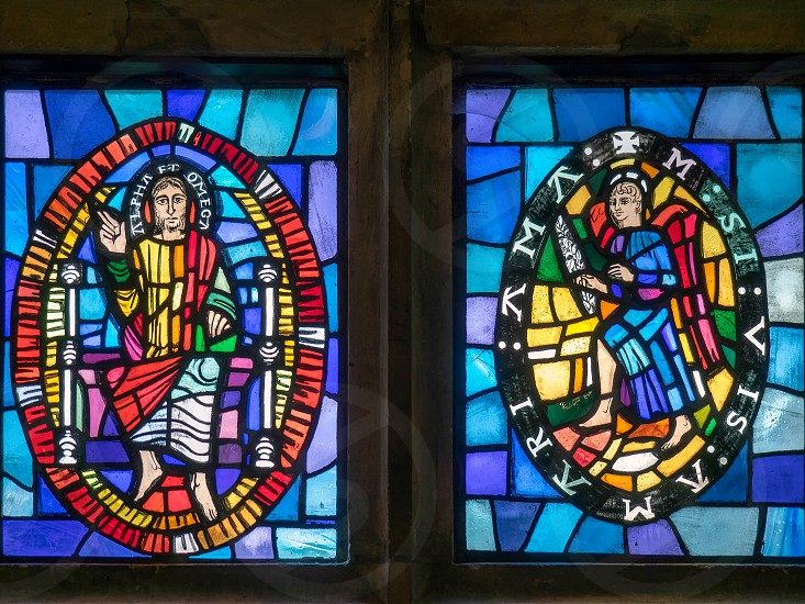 Stained Glass Windows by  Marguerite Douglas_Thompson at Michelham Priory photo