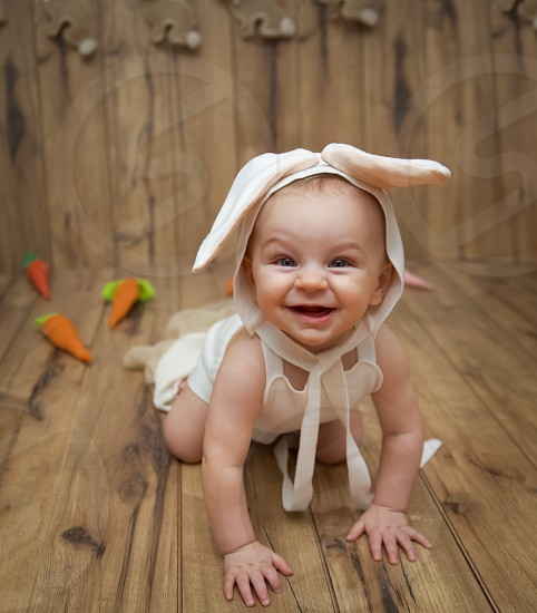 Happy bAby bunny  photo