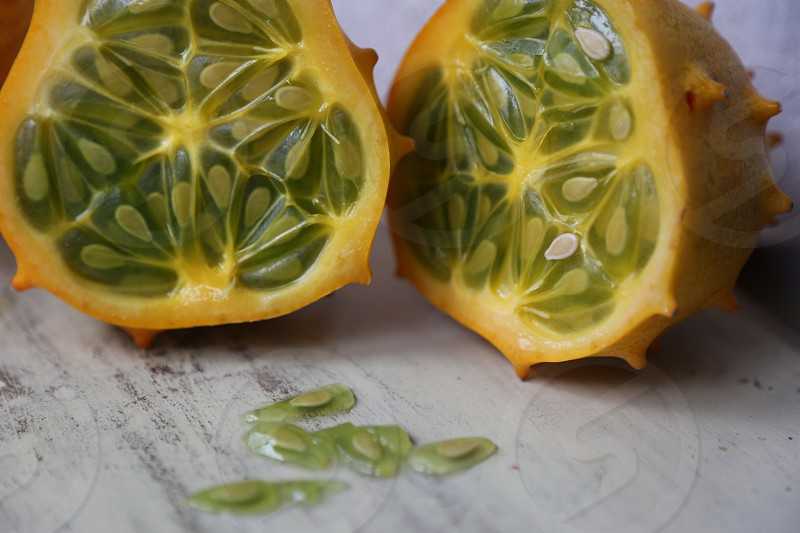 Kiwano Melon and Seeds photo