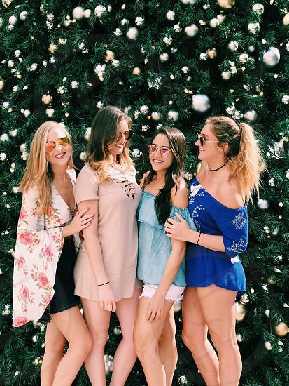 Friends happy girls photo