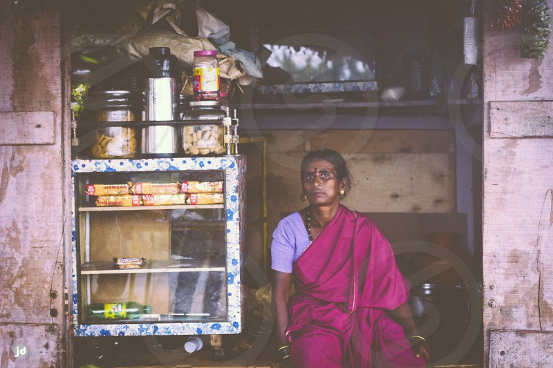 Woman owing a small shop photo