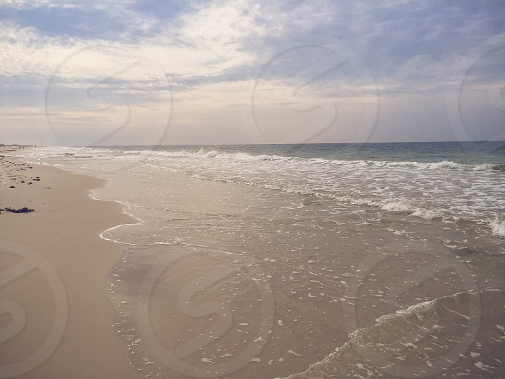 Fort morgangulf shores Alabama beach sand surf sea ocean waves landscape seascape travel vacation destination  photo