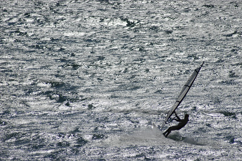 ocean and wind surfer photo
