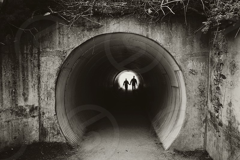 Couple tunnel love photo