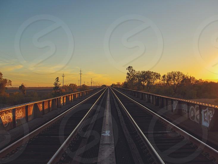 railroad view photo