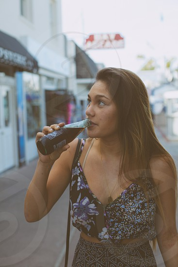 woman drinking photo