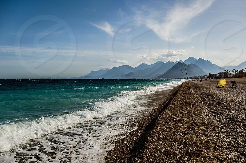 Konyaaltı Beach in Antalya Turkey. photo