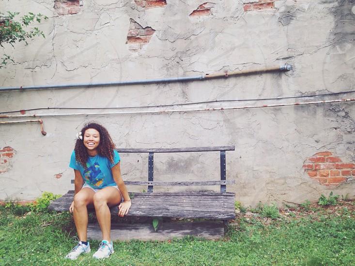 girls' turquoise short sleeve shirt photo