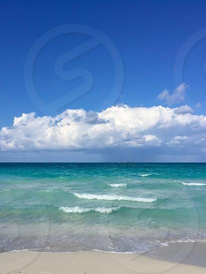 Light surf on the Atlantic coast Cuba Varadero photo