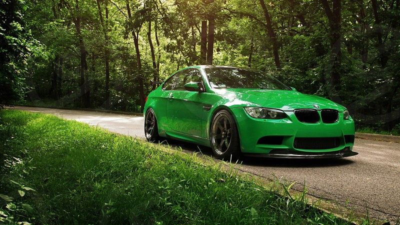 custom painted green bmw drive in india photo
