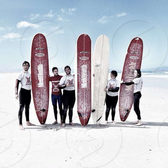 Surfing lessons with friends. photo