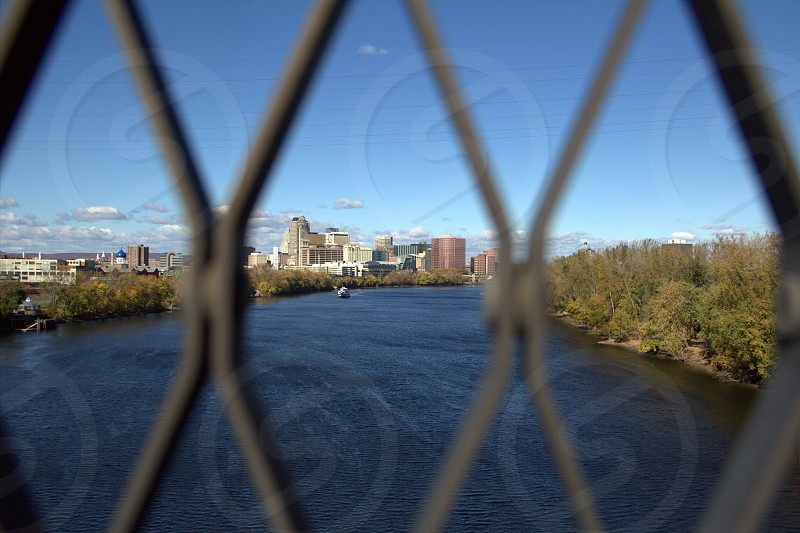 Hartford through the wires photo
