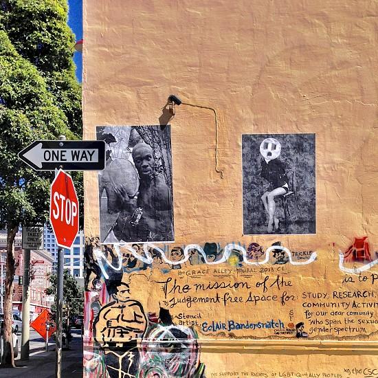 Mural city street.  photo
