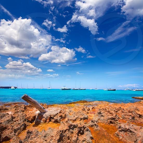 Formentera Cala Saona beach one of the best beaches in world near Ibiza photo