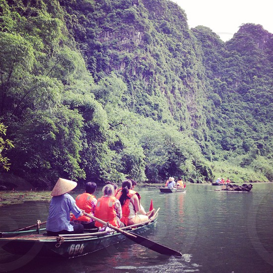 Boat sightseeing bay nature green photo