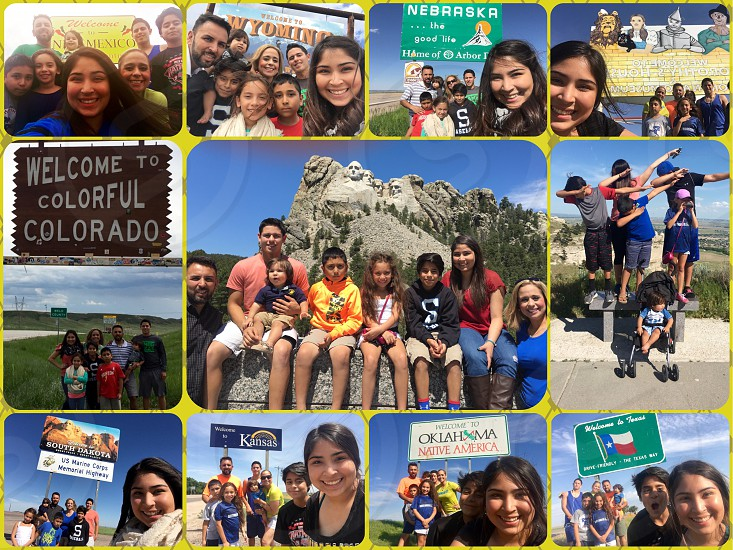 Family Road trip Blended Family 7 states 7 days Love Family Summer Vacation photo