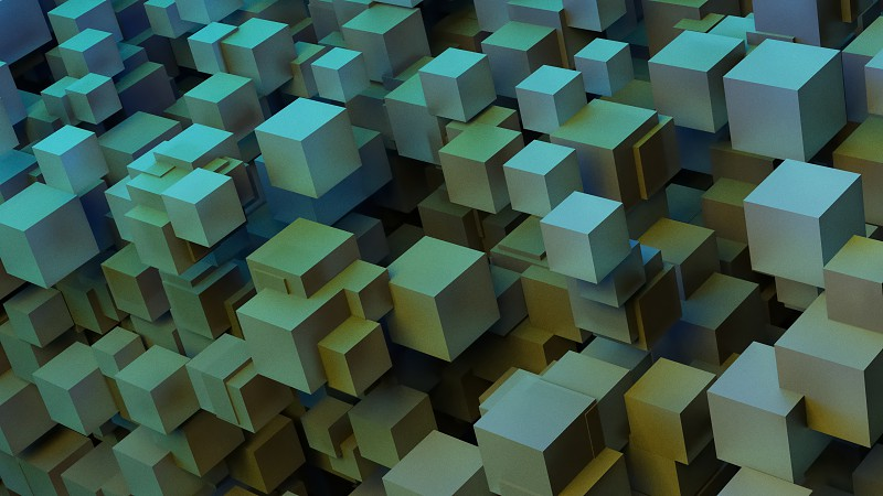 8K UHD Computer Generated 3D Cube Stack Art photo