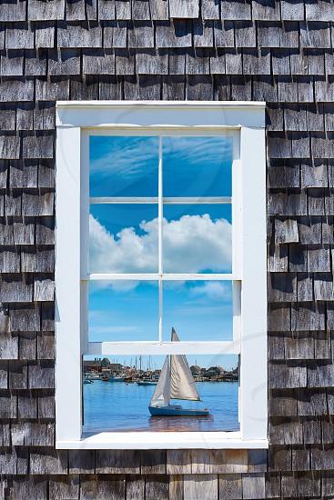 Cape Cod window photomount Massachusetts USA photo