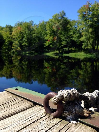 At the lake. Dock. photo