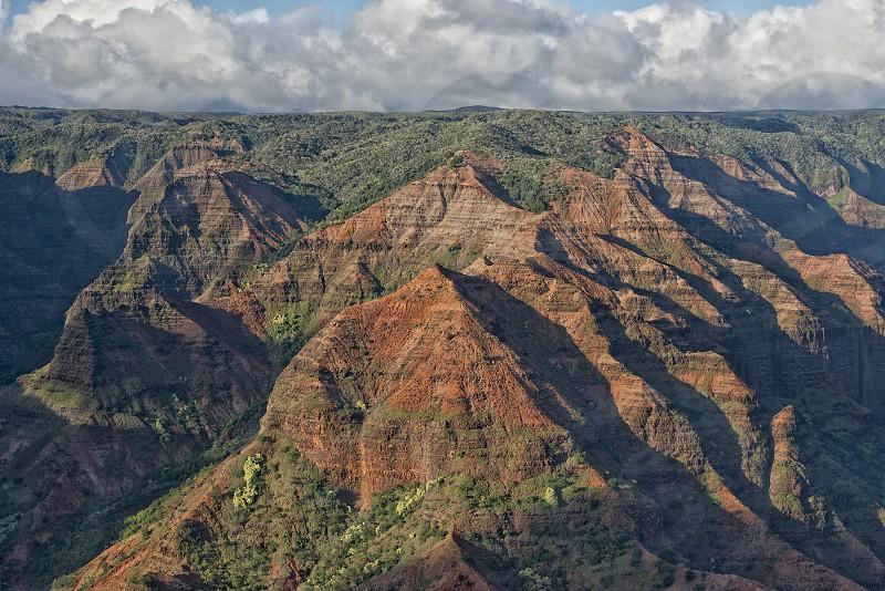 view of Waimea Canyon in Hawaii photo
