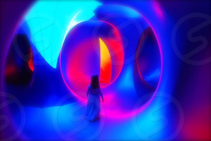 The Luminarium at the Pittsburgh International Children's Festival. Abstract fine art event Amococo. photo
