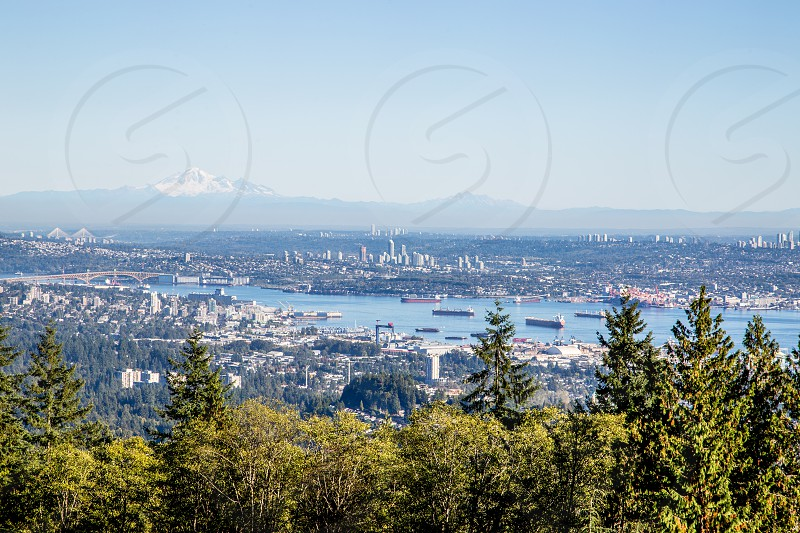 View overlooking Vancouver and beyond photo