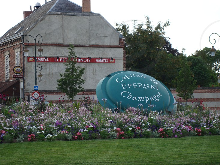 Entering the town of Epernay France -- the Champagne capital of the world photo