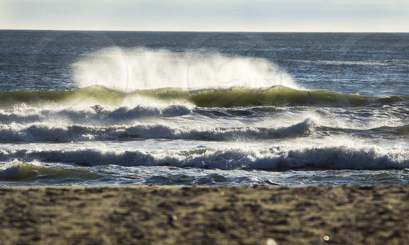 Ocean waves beach New Jersey photo