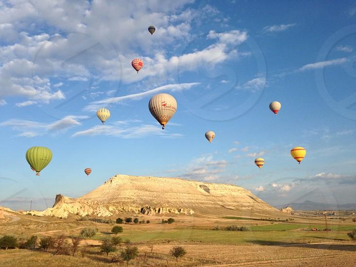Balloons in Cappadocia Turkey. photo