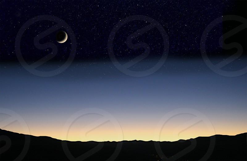 Moon at dusk photo