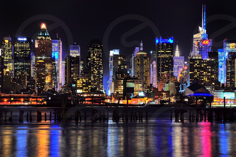 cityscape photography captured during nighttime photo