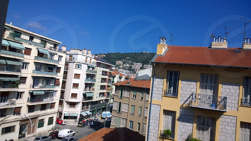 A beautiful view from my hotel window in Nice France - July 2014 photo