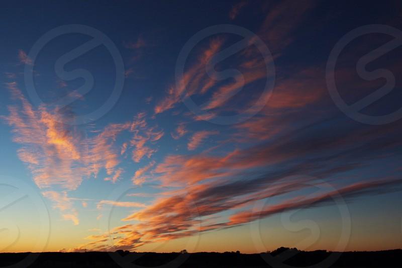 sunset sky view photo