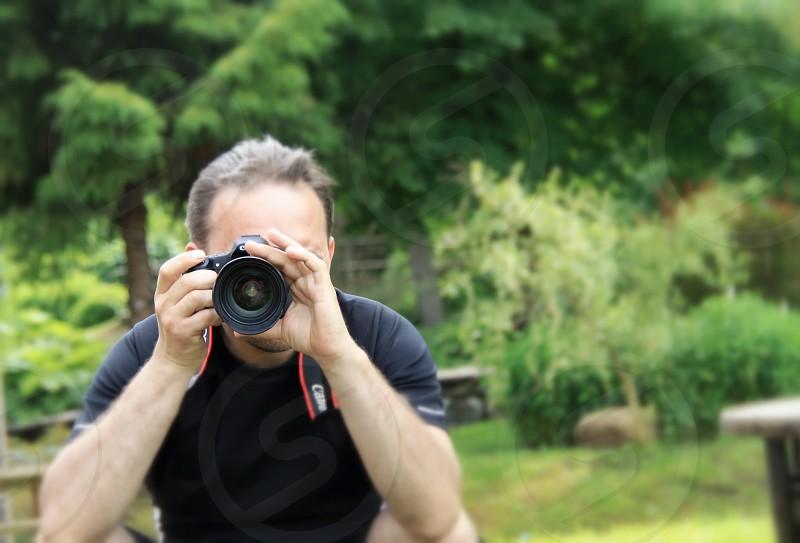 Camera photographer dslr man focus  photo