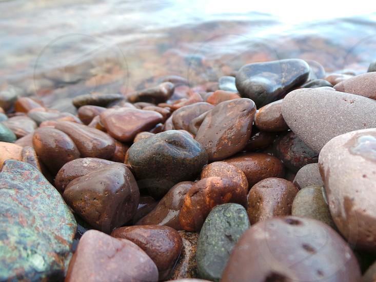 Pebbles by Lake Superior  photo