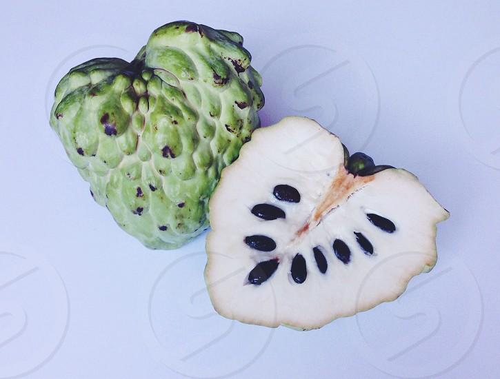 Custard apple! Love the texture of this fruit  photo