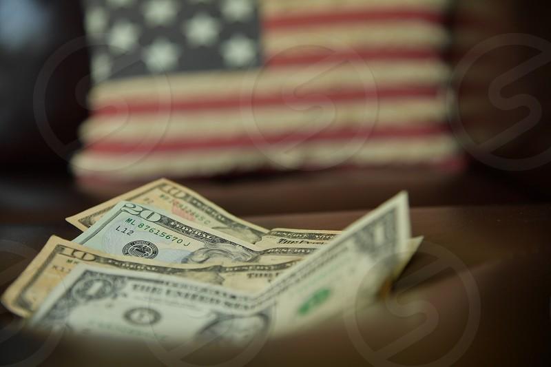 US dollar bills photo