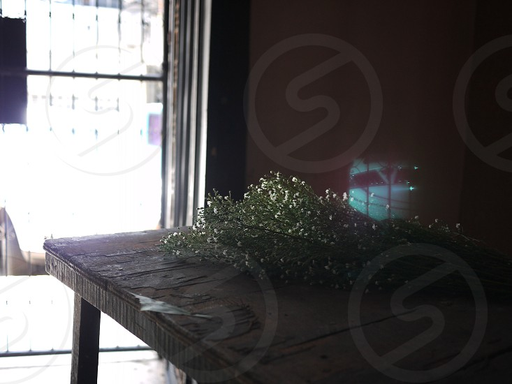 Flowers on table photo