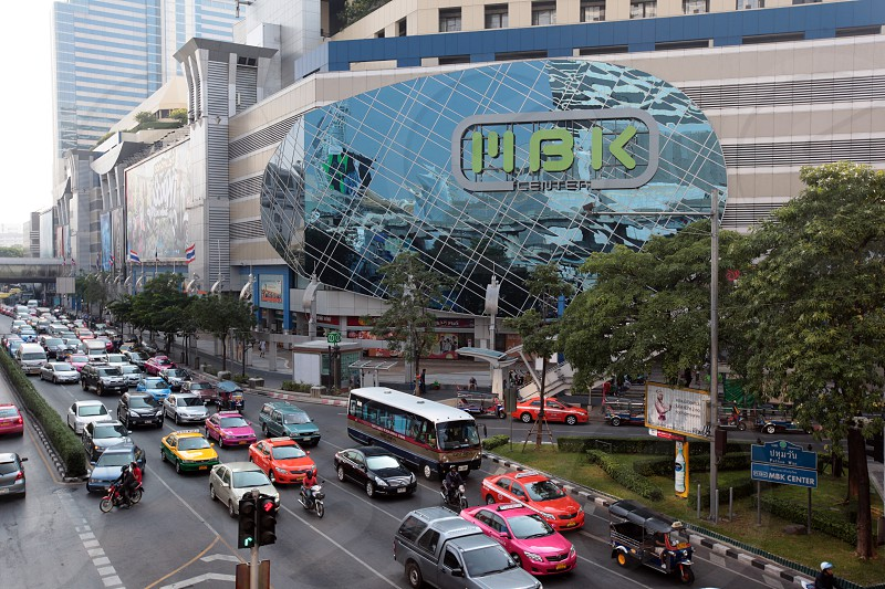 the mbk shopping mall in the city centre at the pratunam aerea in the city of Bangkok in Thailand in Suedostasien. photo