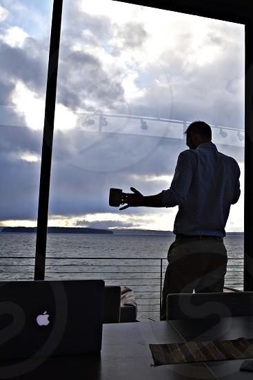 On the Phone businessman coffee broker photo