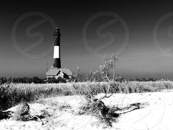black and white lighthouse photo