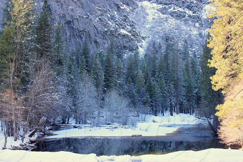 Yosemite Winter Lake Snow photo