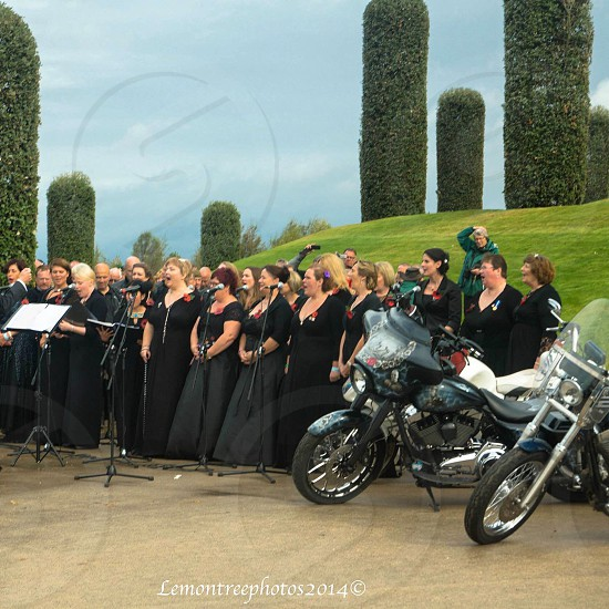 Ride to the wall 2014 - Army wives choir taken at the National Memorial Arboretum in Staffordshire photo