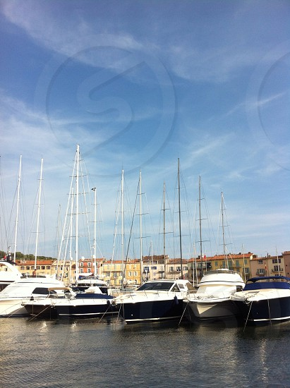 yacht harbor in St. Tropez France photo