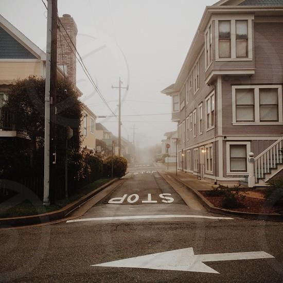 white stop mark photo