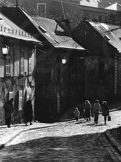 Old street in backlight photo
