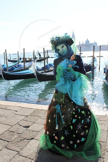 Suggestive carnival in Venice photo