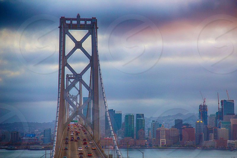 The western span of the Bay Bridge leading into San Francisco California. photo